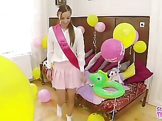 Anal Party for 18 Virgin Teen - sloppyteens.com