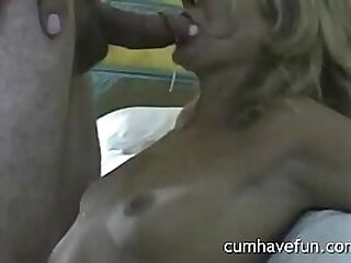 After cum sucking ! Very hot oral creampie by sexy wife. cumhavefun.com