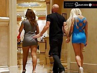 Big Cock Stud Fucking Two Crazy Hot Pornstars on Her Birthday MMF - SinsLife and BustyPorn