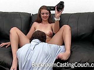 Young Anal Teen Swallows Agent's Cum