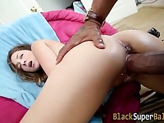 Teen swallows big rod cum