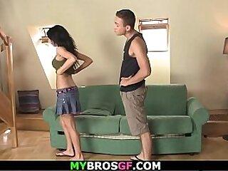 Sexy brunette teen gf cheating