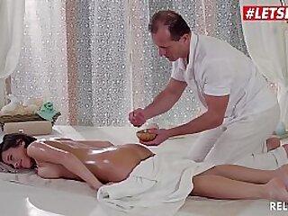 LETSDOEIT - European Teen Brunette Anabell Gets Deep Ass Fucked By Horny Masseur