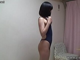 Japanese Teen Changes to School Swimsuit
