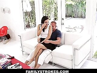 Slutty Stepdaughter (Malina Mars) Presents On Fathers Day